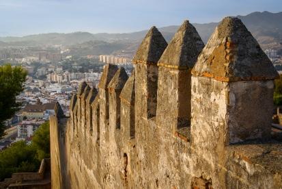 Der Blick von oben - Castillo de Gibralfaro