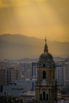 Kathedrale Santa Iglesia im Sonnenuntergang