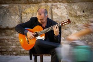 Flamenco findet sich überall in den Straßen...