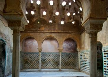 Das arabische Bad der Alhambra.