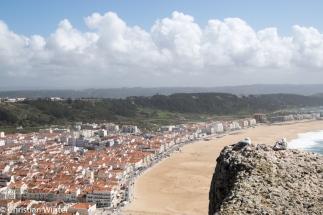 Blick über die Praia da Nazaré