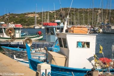 Die Fischerbote im Hafen zeugen von den reichhaltigen Fischvorkommen in der Straße von Bonifacio.