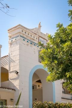 Das Portal im Hafen von Santa Teresa.